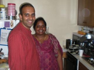 01-Sridhar Prabhu and Madhumita Devi, the hosts.
