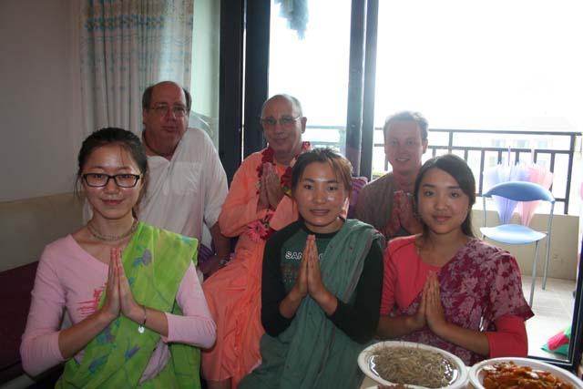 08-Srila Janardan Maharaj in Chongqing, China