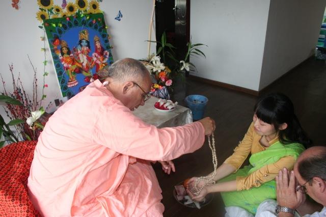 25-Srila Janardan Maharaj in Chongqing, China