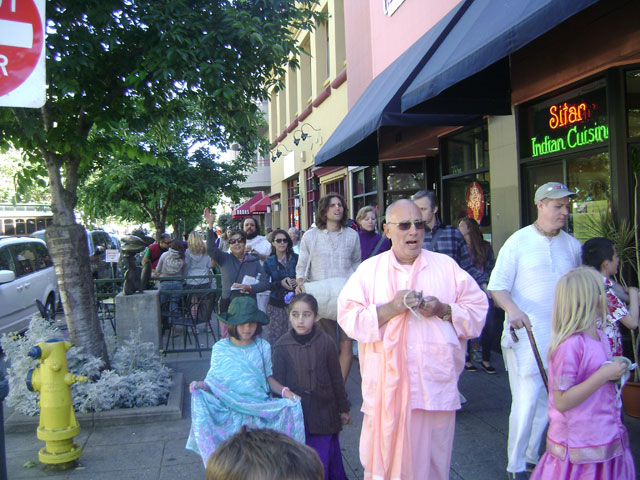 18-He led the group on harinam on Pacific Avenue