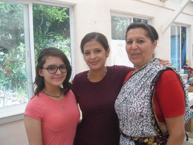 23-Revati Didi and Bilmala Didi from Ecuador pose with Lalita Didi