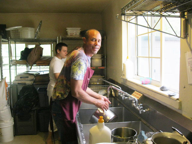 40-Premanidhi Prabhu washed kitchen pots everyday during the camp