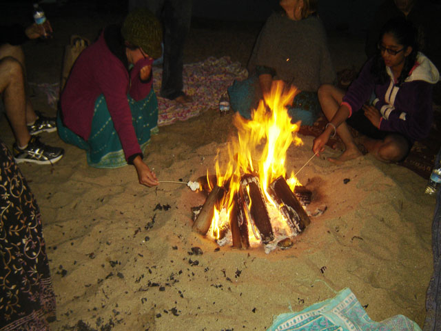 18-And the bonfire at Sunny Cove